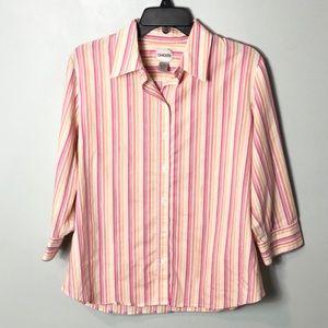 Chico's striped button down shirt